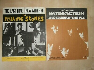 £8.99 • Buy THE ROLLING STONES The Last Time & Satisfaction, 1960s Double Song Music Sheets