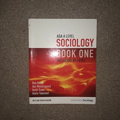 £27.99 • Buy AQA A Level Sociology Book One Including AS Level: Book One