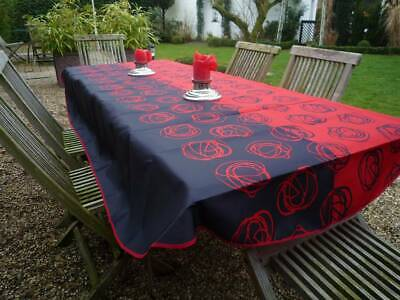 £22.28 • Buy Tablecloth Provence 150x240 CM Oval Red Black Loops France Non-Iron