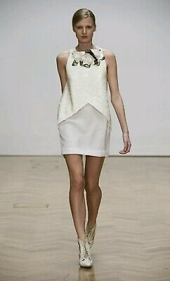AU110 • Buy Sass & Bide 'See The Story' White Sequin Dress Size AU10