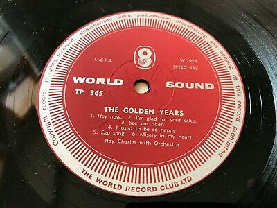 £6 • Buy Ray Charles - The Golden Years -(World Sound Records) Vinyl  LP - Compilation