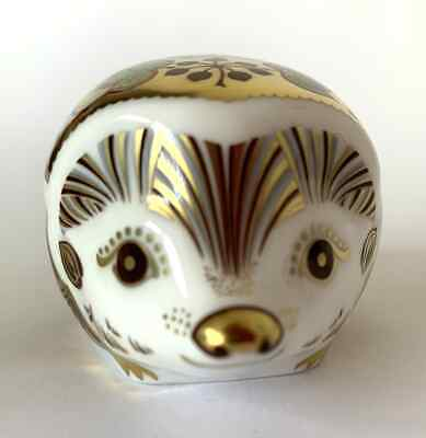 £49.95 • Buy Royal Crown Derby Paperweight 'Ivy Hedgehog' 1st Quality Boxed Gold Stopper (1)