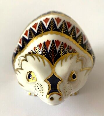 £39.95 • Buy Royal Crown Derby 'Hedgehog' Paperweight 1st Quality Original With Gold Stopper