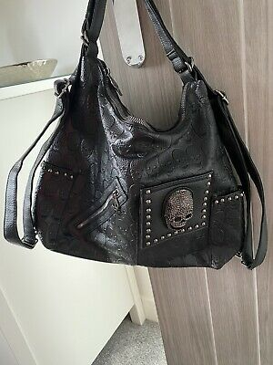£10 • Buy Gothic Black Skull Bag (rucksack) NEW (faux Leather Look)