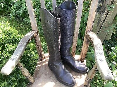 £425 • Buy Gucci Maud Riding Boots Knee High Size 381/2 Uk