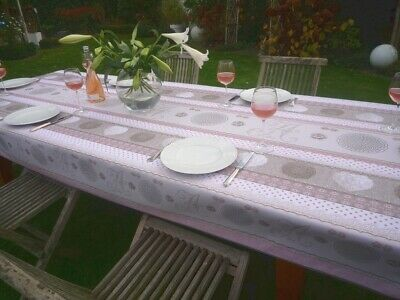 £26 • Buy Tablecloth Provence 150x300 CM Pink Beige Monogramme From France Non-Iron