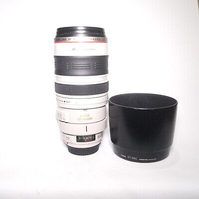 View Details Canon EF 100-400mm F4.5-5.6L IS USM Telephoto Zoom Lens Hood, Caps • 270.50£