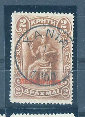 £18.15 • Buy Greece Crete 1900 2 Dr. Red Ovpt Cancelled 1.Mart 1900 First Day