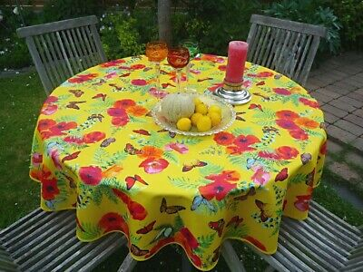 £16.31 • Buy Tablecloth Provence 160 CM Round Yellow With Poppy From France Non-Iron