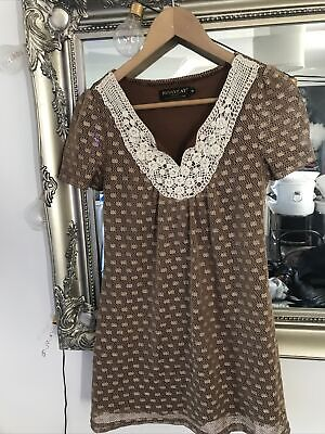 £1.20 • Buy Fab Pussycat London Dress Bronze With Pearl Detail Small