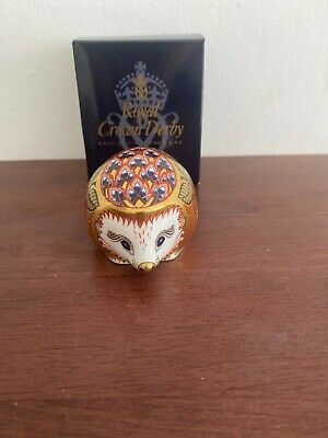 £50 • Buy Royal Crown Derby Paperweight Orchard Hedgehog 2000 Collectors Guild Exclusive