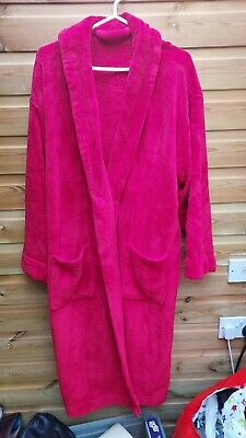 AU5.88 • Buy Ladies Red Soft Thick Fleece Dressing Gown Robe Size 20-22 By Presence