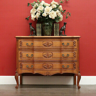 AU895 • Buy Vintage French Chest Of Drawers. French 3 Drawer Hall Cabinet Lamp Cupboard