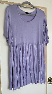 AU14.71 • Buy I Saw It First On Asos Mini Lilac Smock Dress 22 20 18 Cute Top Seller In Shop!