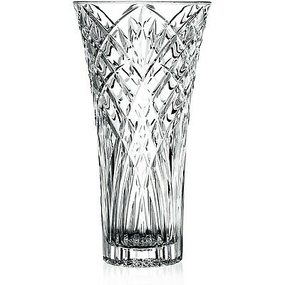 £16.95 • Buy RCR Melodia 30cm Crystal Glass Clear Home Table Decorative Ornament Flower Vase