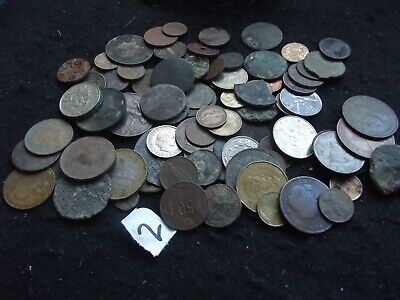 £0.99 • Buy Bulk Lot Metal Detected Coins British And Foreign