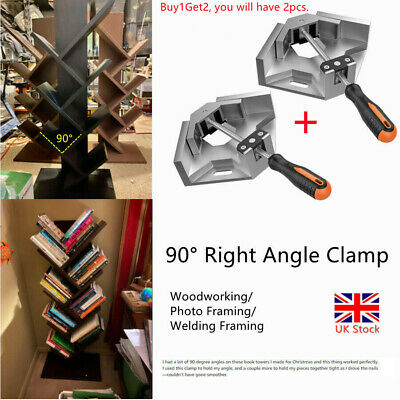 £12.99 • Buy 2Pcs 90° Right Angle Clamps Corner Fixture Clamps Welding Woodworking Clip UK