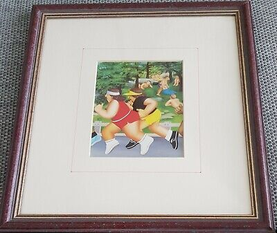 £11.99 • Buy Vintage Framed Beryl Cook Print 'Women Running' 1985 Joggers PERFECT Condition
