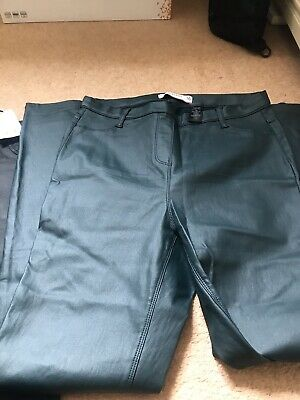 £16 • Buy Bundle Of Tall  Faux Leather Pull On Leggings X 2 And Skirt Size 16