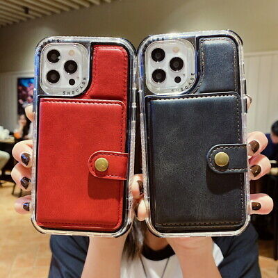 AU14.67 • Buy Card Slot Wallet Leather Hybrid Case Cover For IPhone 13 12 11 Pro Max XS XR 8 7
