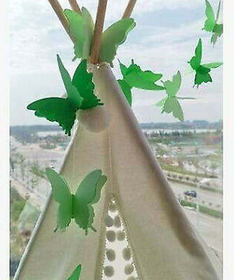 £3.89 • Buy Green Butterfly Hanging 3D Paper Christmas Wedding Birthday Party Decoration