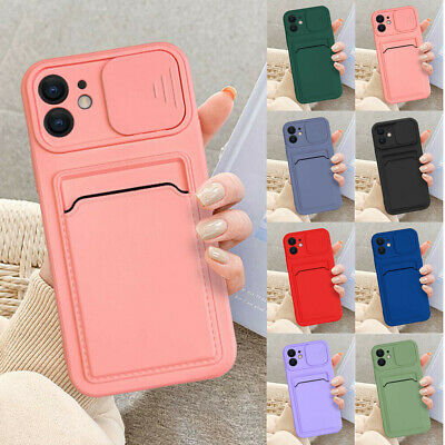 AU8.87 • Buy For IPhone 13 Pro Max 11 X XS 12 8 7 Plus Case Card Slot Wallet Slim Phone Cover