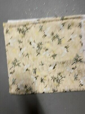 """£3.99 • Buy 22"""" Lenght Crane Print Beige Chinese Japanese Cotton FABRIC 58"""