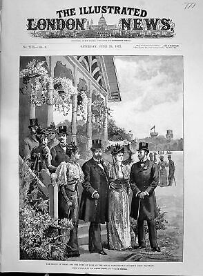 £16 • Buy Old 1892 Prince Wales Duke York Royal Agricultural Society Show Warwi Victorian