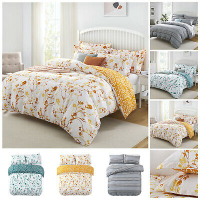 £11.99 • Buy Duvet Cover Bedding Set With Pillow Cases Single Double King Size Quilt Covers