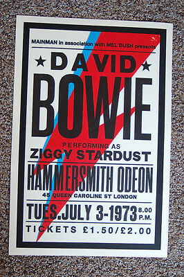 $4 • Buy David Bowie Concert Tour Poster 1973 Hammersmith Odeon