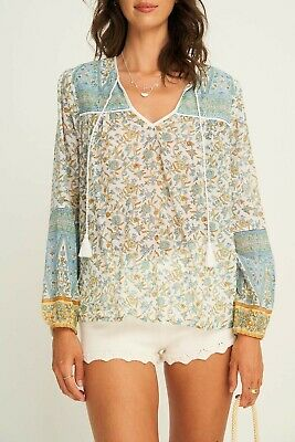 AU99 • Buy Arnhem Lucia Blouse In Ocean New With Tag RRP159 Sz8