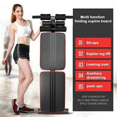 £42.98 • Buy Foldable Decline Sit Up Bench Crunch Board Fitness Home Gym Exercise Sport