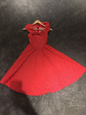 £8 • Buy Lindy Bop Size 8 Dress Fit And Flare Vintage Style 50s Polka Dot