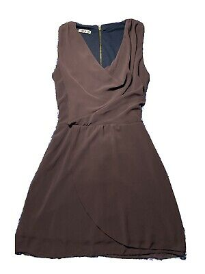 £8 • Buy Wal G Purple Shift Dress With Cowl Neck Size S