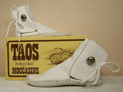 $95.97 • Buy NEW KID'S TAOS INDIAN MAID RUST Or WHITE Moccasins 570 Child