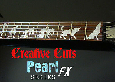 Man To Wolf James Hetfield ESP EX MOP Inlay Sticker Decal For DIY GUITAR Project • 17£