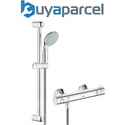 Grohe Shower Mixer Bar Grohtherm G800 EV Thermostatic + Tempesta Riser Rail Kit • 130.99£