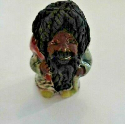$4.95 • Buy Peruvian Ceramic Mixed Rasta Gnome Wizard Bead 25mm X 15mm DIY Charm