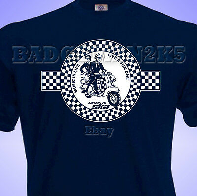 £11.49 • Buy SKA Scooter Two Tone Mens T-Shirt MODS Soul Music JAM Who