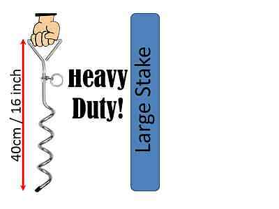 STEEL DOG LEAD TIE OUT Corkscrew Tether Ground Stake • 9.99£