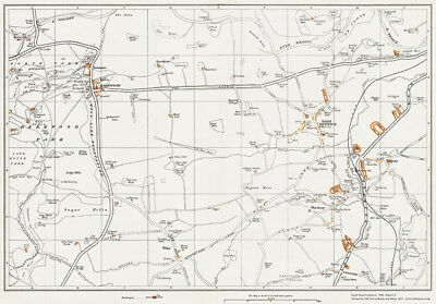Harewood & East Keswick Yorkshire 1938 Old Map Repro 13 • 16.99£