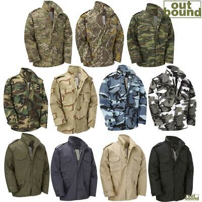 AU79.58 • Buy M65 Jacket Vintage US Army Military Field Top Combat Lined Coat Camo Olive Green