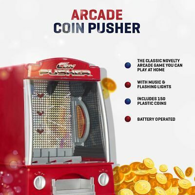 £126.94 • Buy Coin Pusher Slot Machine Arcade Game Novelty Table Top Penny Falls Toy Gift Fun