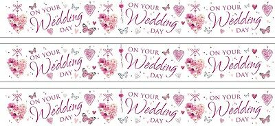 On Your Wedding Day White Foil Banners (se) • 1.50£