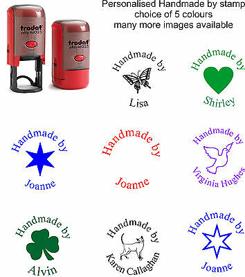 £10.99 • Buy Personalised Handmade By Self Inking Rubber Stamp With Your Name Asstd Designs