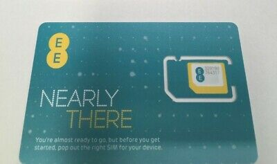 £0.99 • Buy New Pay As You Go Ee Network Triple Sim Card For Iphone 5,6,6plus,7,s6,s7,m10