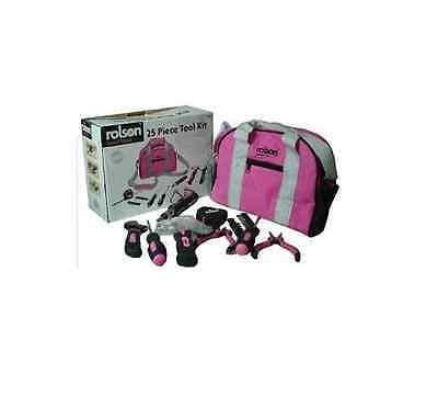 Brand New Rolson Pink Ladies Tool Kit Box With Pink Carry Bag Screwdrivers+more. • 124.99£