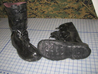 $39.95 • Buy Military Over Boots Rubber Lacross 5 Buckle Size 10 New Made In The USA USGI