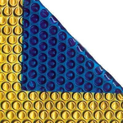 24ft X 12ft Oval Gold/Blue 500 Micron Swimming Pool Cover Solar Heat Retention • 213.84£