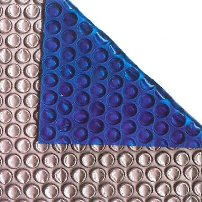 24ft X 12ft Oval Silver/Blue 400 Micron Swimming Pool Cover Solar Heat Retention • 176.04£